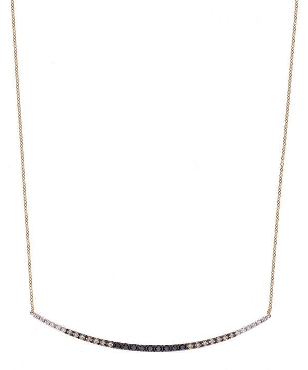 Rose Gold Rainbow Tricolour Diamond Necklace