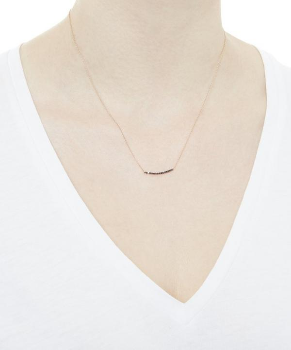 Small Lumiere Black Diamond Bar Necklace