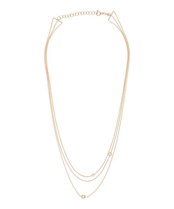Exclusive Three Chain Three Diamond Necklace