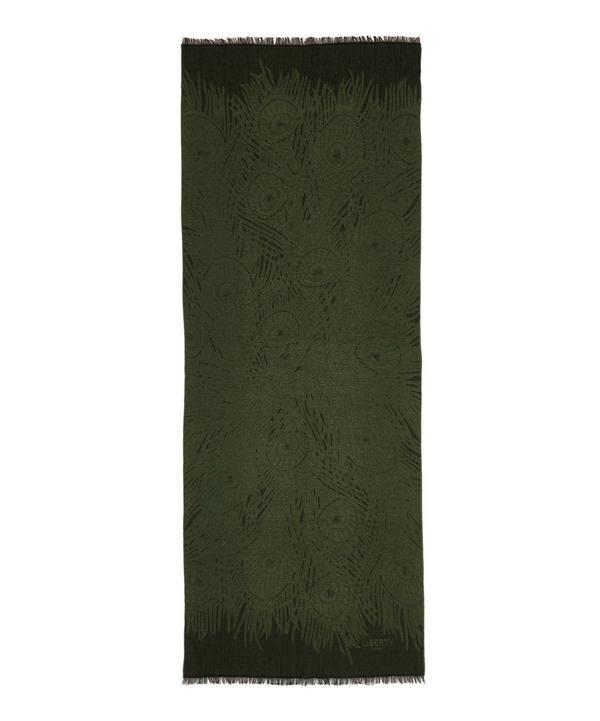 Hera 70x180 Jacquard Wool Blend Scarf