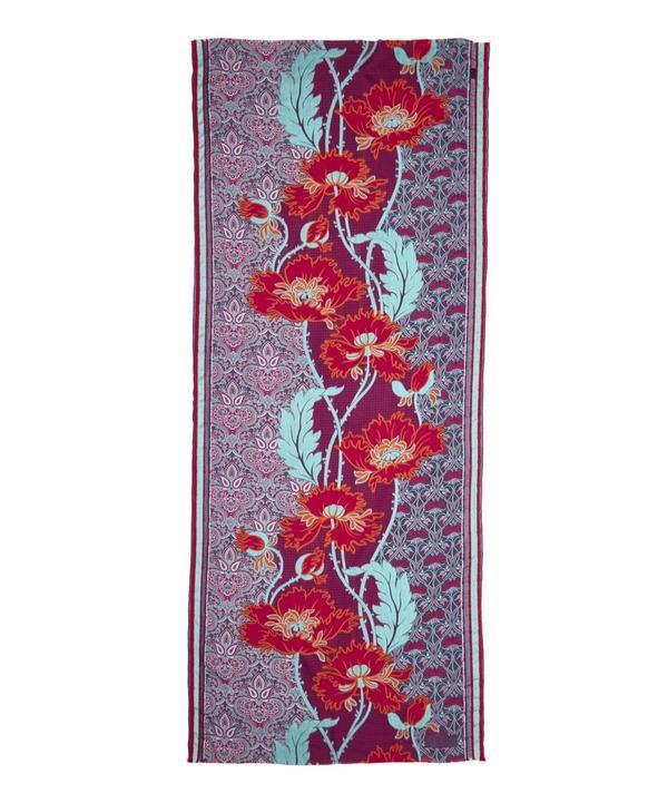 Lewellyn Nouveau Jacquard Wool Blend Scarf