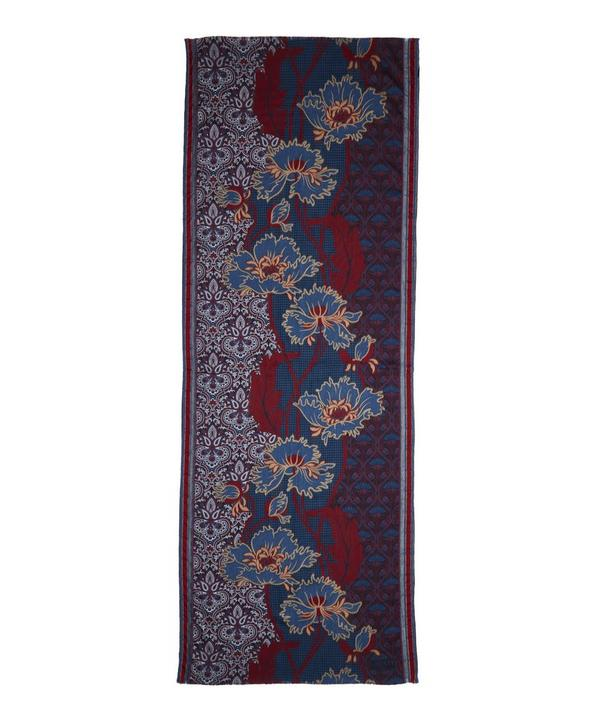 Liberty London Lewellyn Nouveau Jacquard Wool Blend Scarf