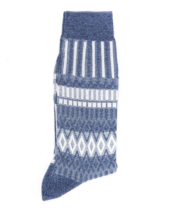 Triangle Square Pattern Socks