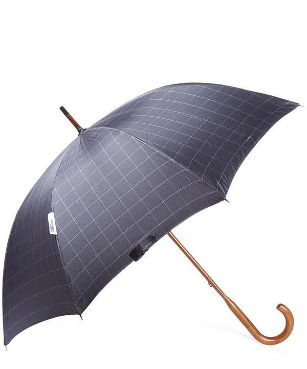 Windowpane Check Inside Maple Wood Umbrella