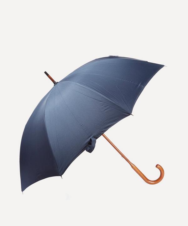 Classic Stripe Maple Wood Handle Umbrella