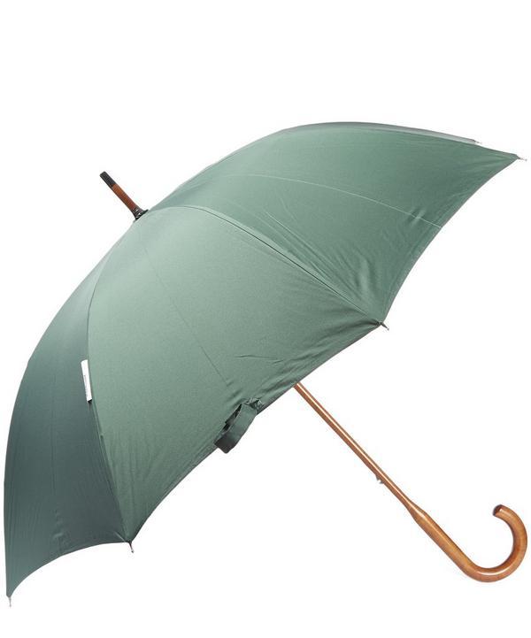 Tartan Inside Maple Wood Handle Umbrella