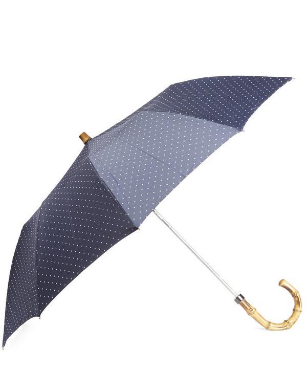 Whangee Handle Polka Dot Umbrella