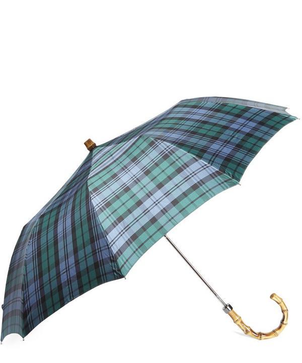 Campbell Tartan Whangee Handle Umbrella