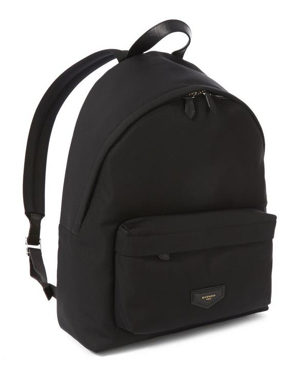Leather Patch Backpack