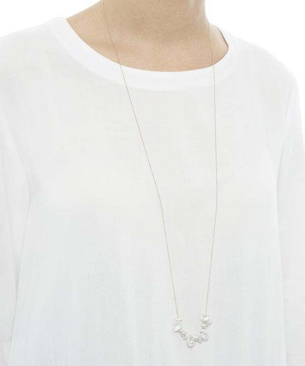 Gold Natural Pearl Necklace