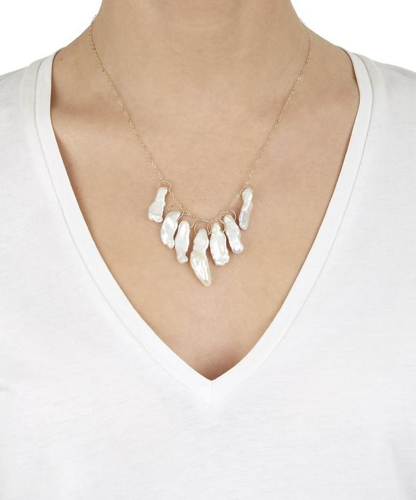 Limited Edition Gold Kasumi Keshi Pearl Necklace