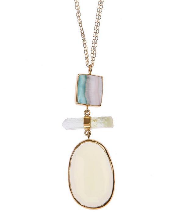 Gold Multi Stone Necklace