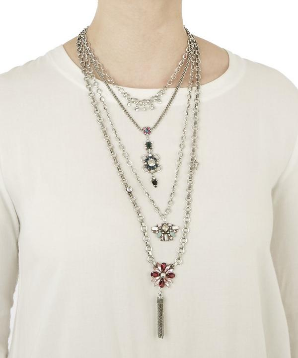 Emerie Long Statement Charm Necklace