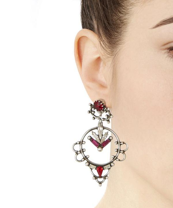 Esther Multi Drop Crystal Earrings
