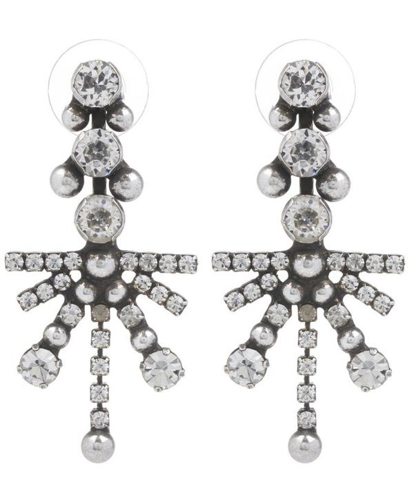 Wynter Silver Starburst Drop Earrings