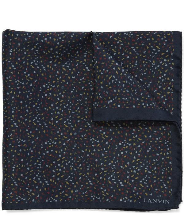 Speckle Print Pocket Square