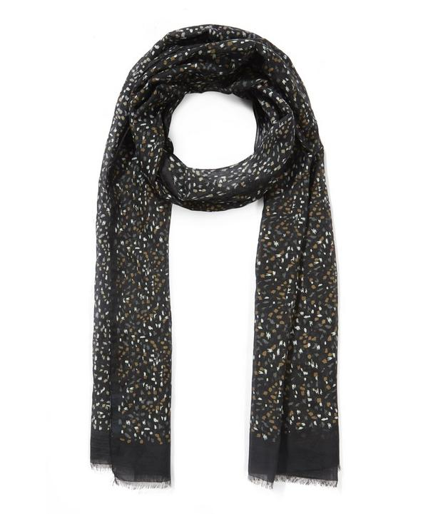 Patterned Silk Speckle Scarf