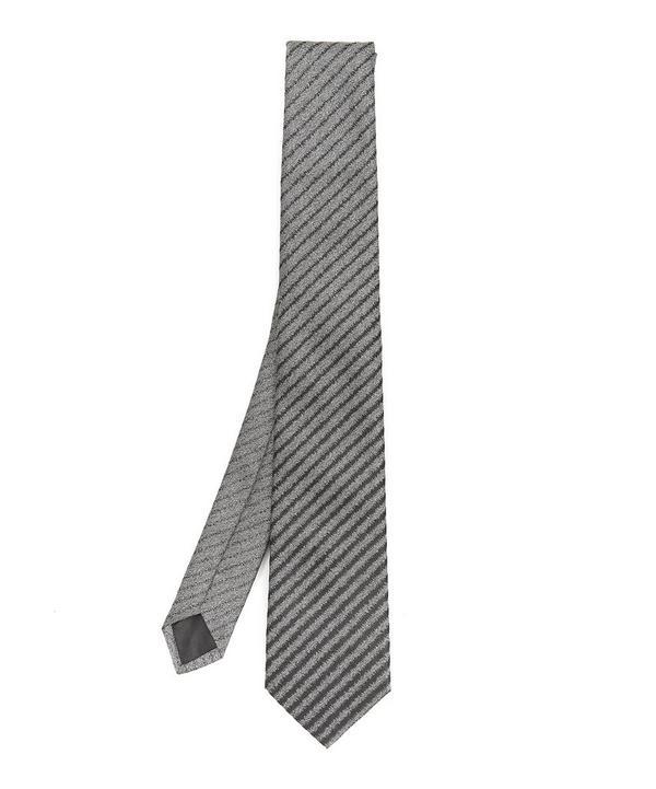 Stripe Metallic Pattern Tie