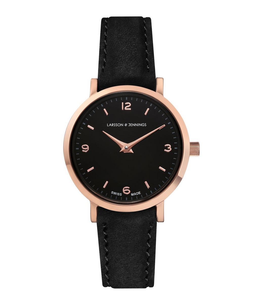 Lugano 26mm Rose Gold-Black Watch £215.0
