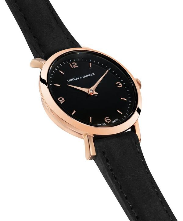Lugano 26mm Rose Gold-Black Watch