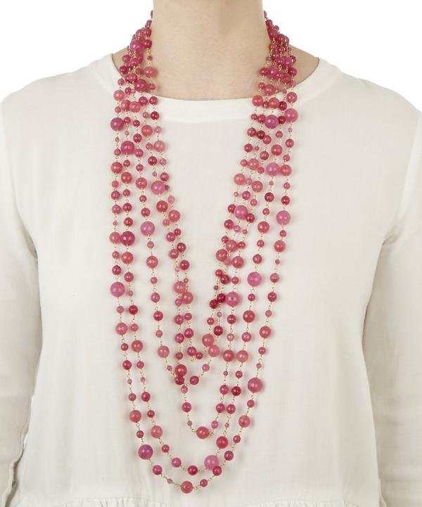 Pegaso Long Bead Necklace