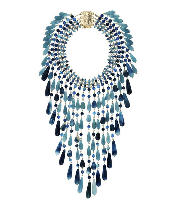 Antica Statement Quartz Bead Necklace
