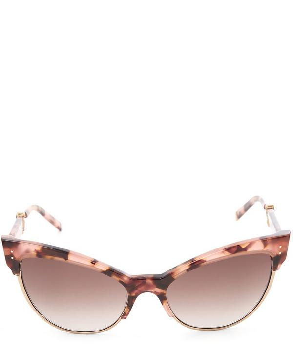Half Wayfarer Exaggerated Cat Eye Sunglasses