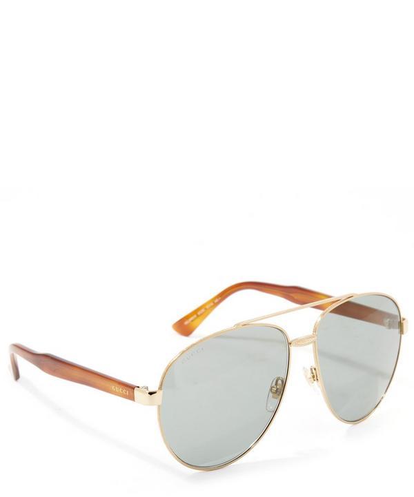 Acetate Arm Aviator Sunglasses