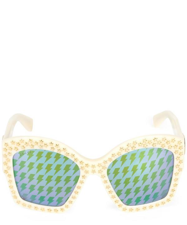 Demi Blonde Chunky Embellished Sunglasses