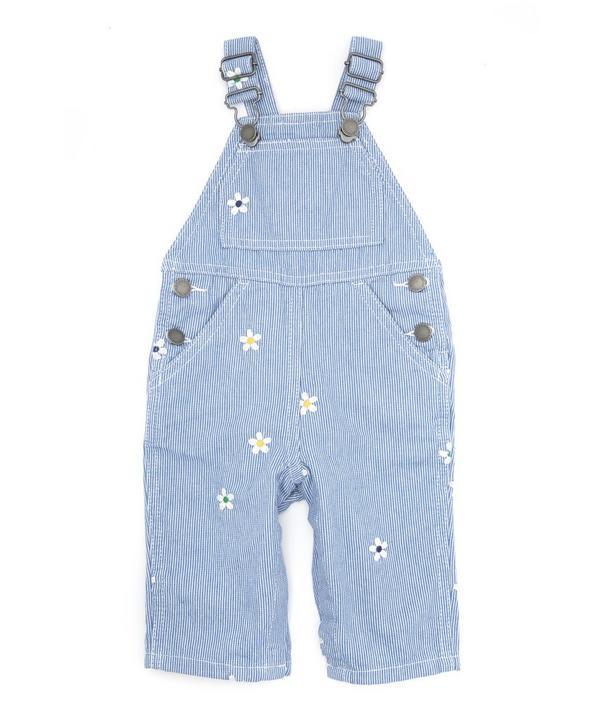 Olive Embroidered Dungarees