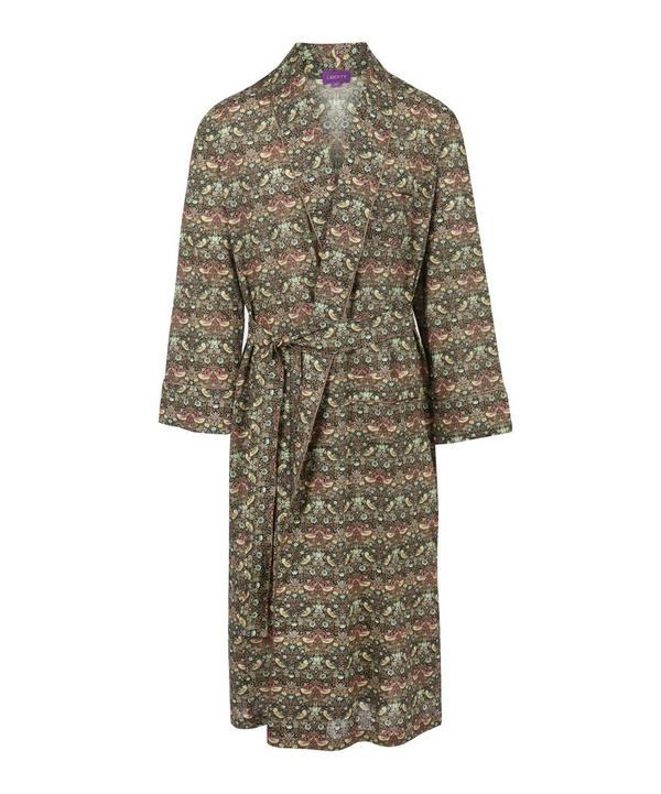 Strawberry Thief Long Cotton Robe