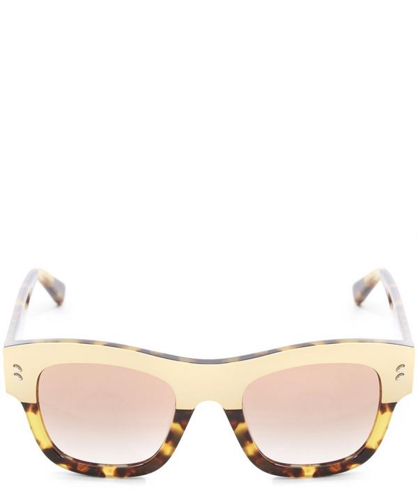 SC0047S Square Contrast Panel Sunglasses