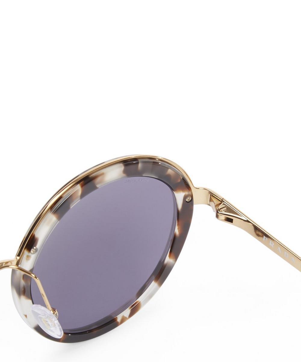 50TS Round Tortoiseshell Sunglasses