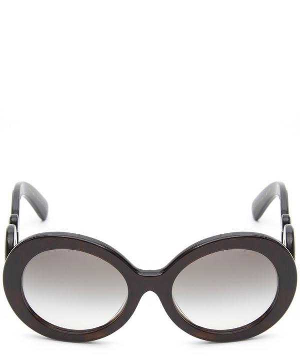 PR 08TS Oversized Round Baroque Sunglasses