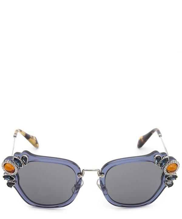 Curvy Royal Crystal Sunglasses
