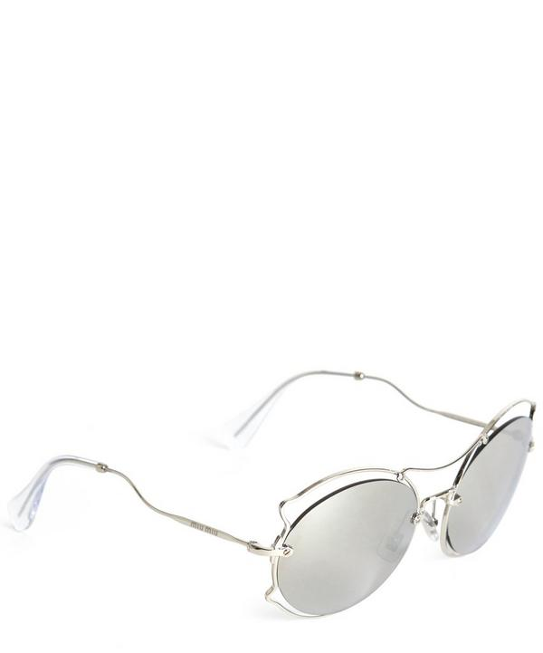 MU 50SS Oval Metal Detail Sunglasses