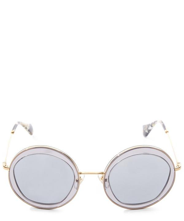 Round Dual-Toned Sunglasses