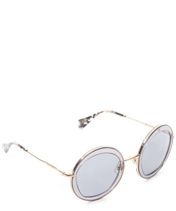 Round Dual-Toned Sunglasses
