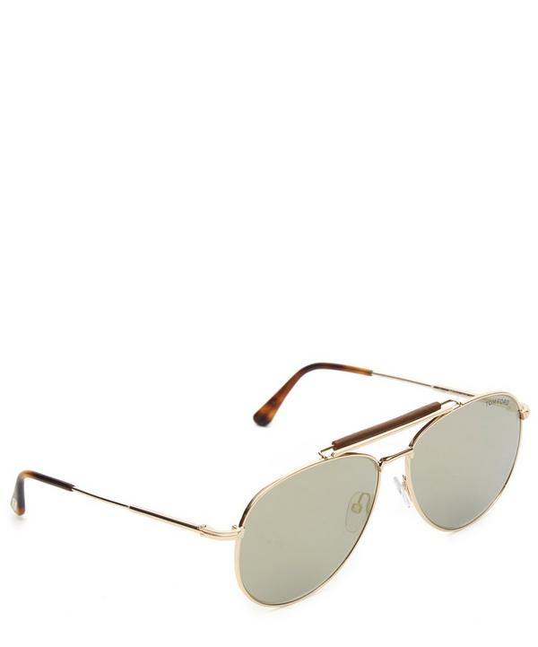 FT0536 Leather Bridge Aviator Sunglasses