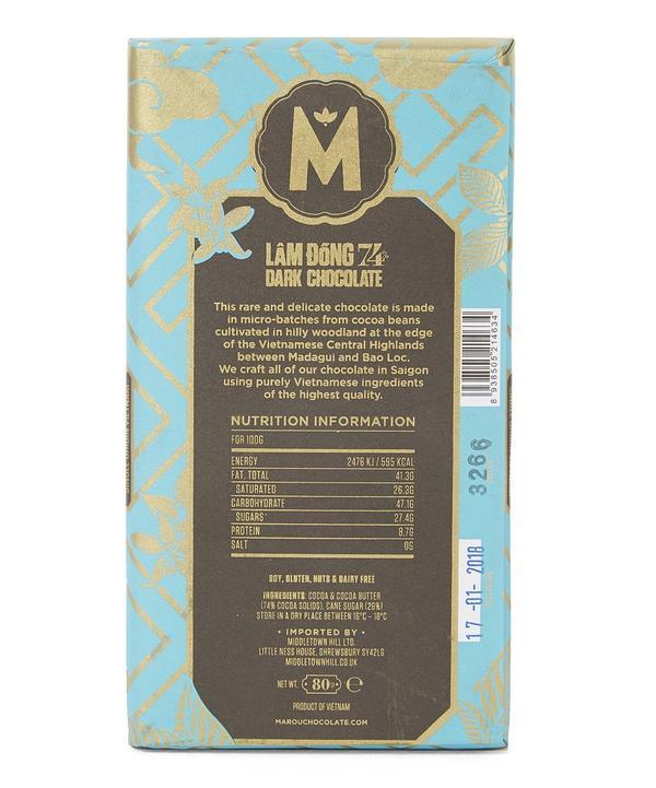 Lam Dong 74% Dark Chocolate Bar 80g