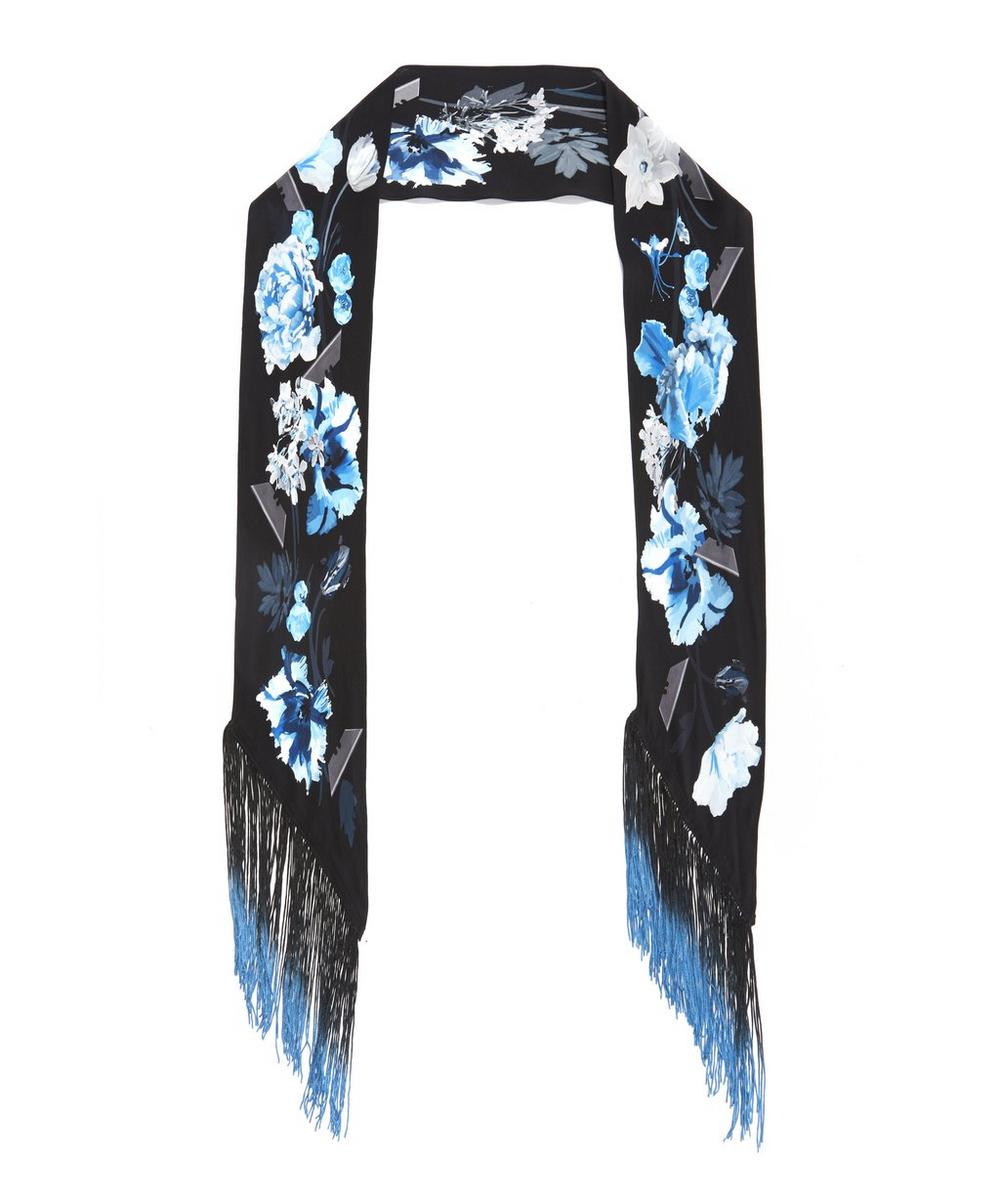 Flora Classic Skinny Fringed Scarf