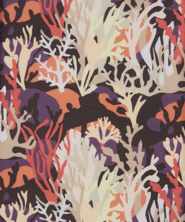 Coral Camo Silk Crepe de Chine
