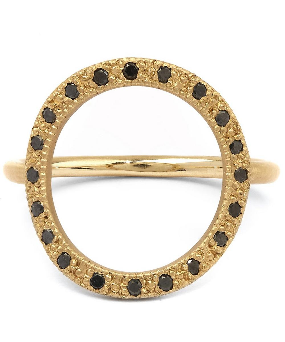 Gold and Black Diamond Infinity 20 Ring