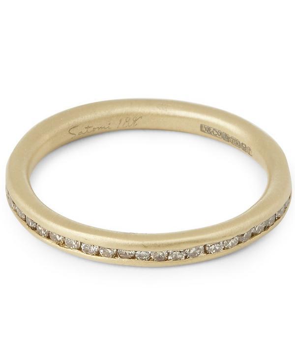 Brown Diamond Channel-Set Ring