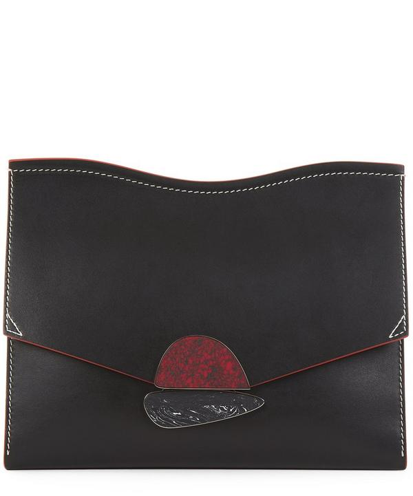 Medium Leather Curl Clutch