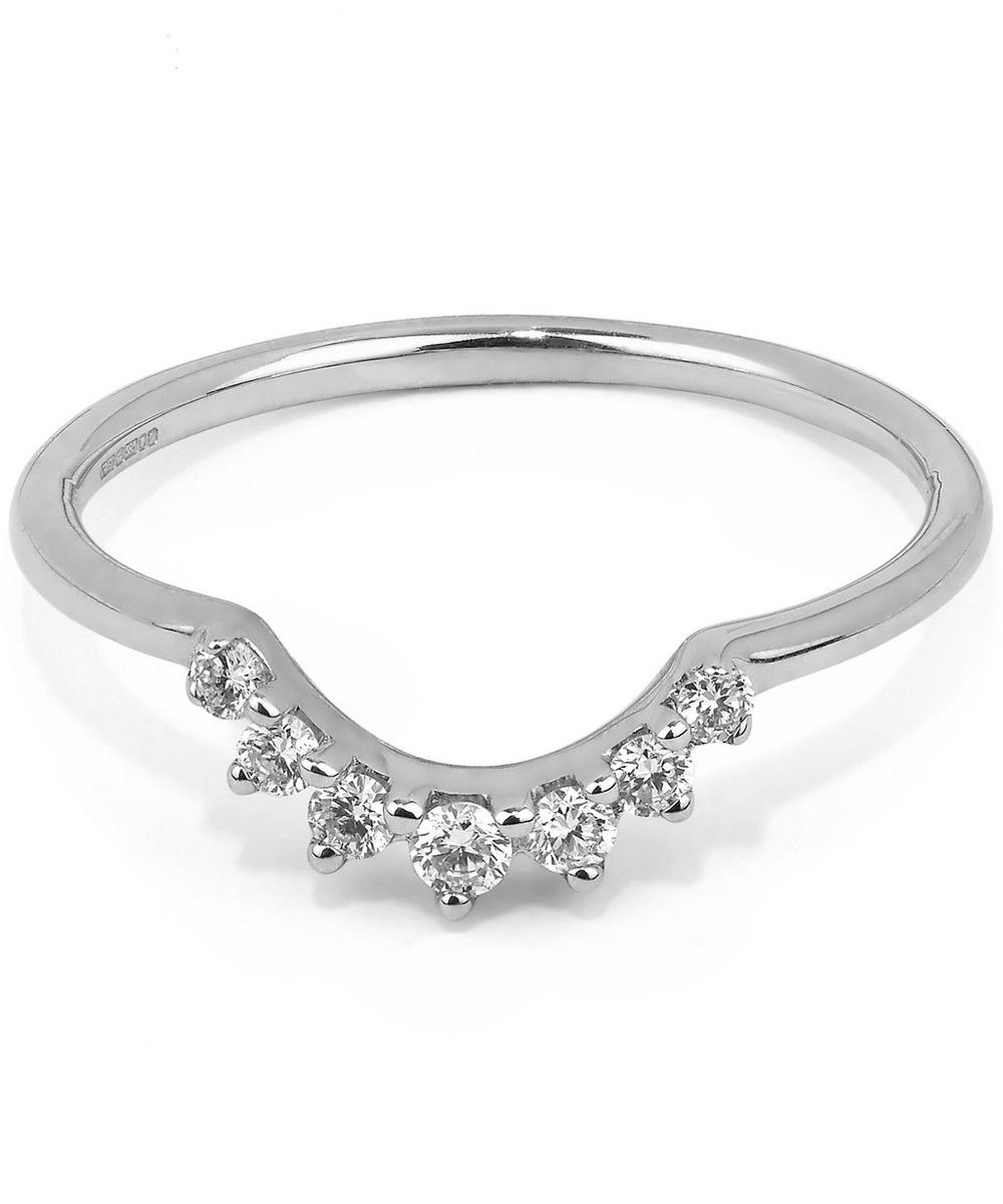 White Gold Grand Tiara White Diamond Ring