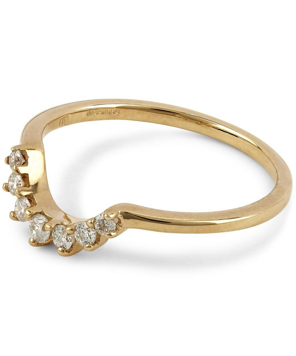 Gold Grand Tiara White Diamond Ring