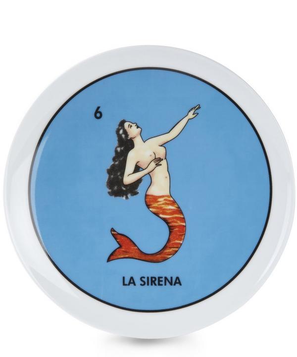 Loteria La Sirena Plate