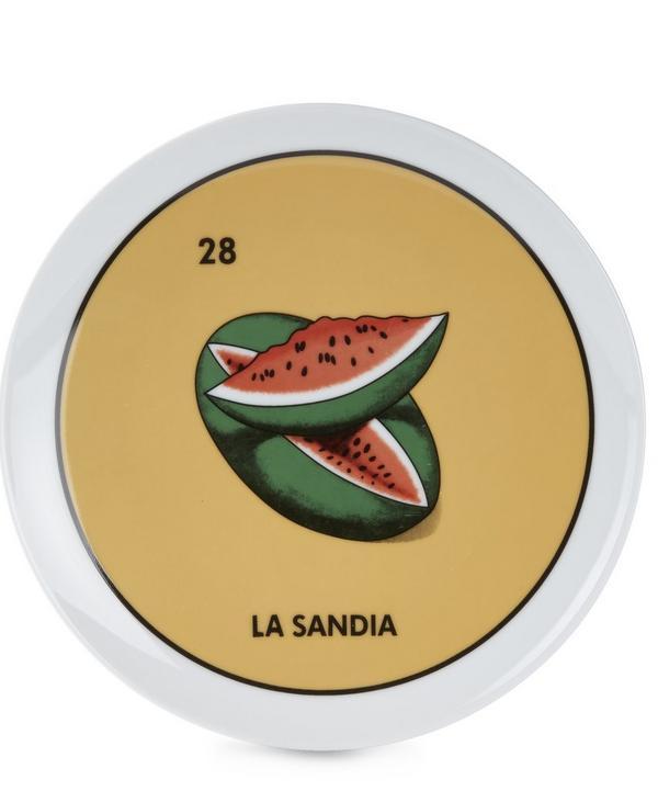 Loteria La Sandia Plate