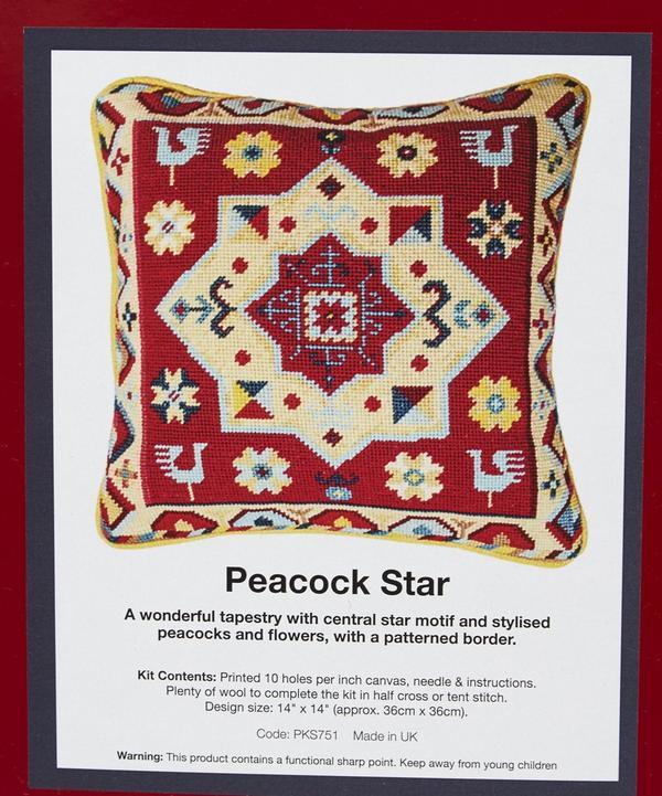 Peacock Star Tapestry Kit